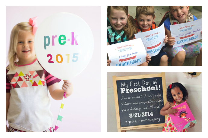 First day of school photos: 9 ideas for easy printables and props to make posing a little more fun.