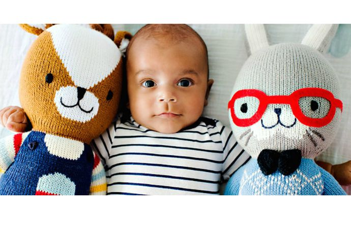 cuddle + kind: The new handknit dolls good at snuggling, playing, and feeding kids in need
