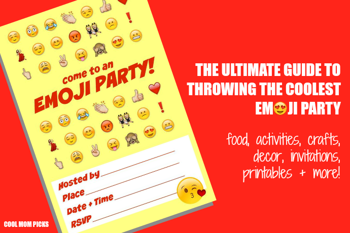 How to throw an Emoji party: The ultimate roundup of seriously awesome snacks, invitations, activities + other ideas.