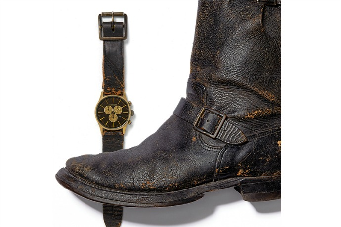 Holiday gifts for men: Nixon watch made from Tom Waits' actual leather boots