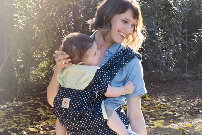 4 seriously stylish new baby carriers we love in honor of National Babywearing Week