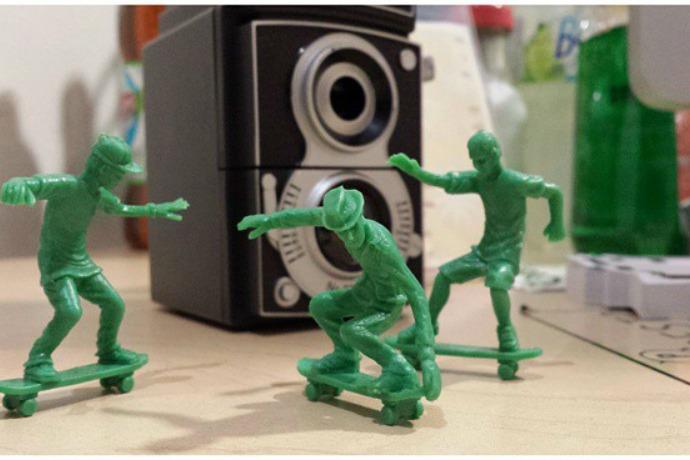 Toyboarders: Little green army men like, totally transformed, dude.