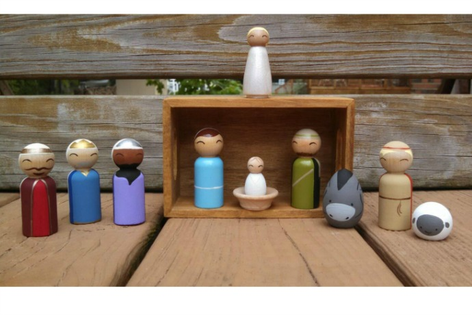 7 unique nativity sets for families with young kids. So basically, not glass.