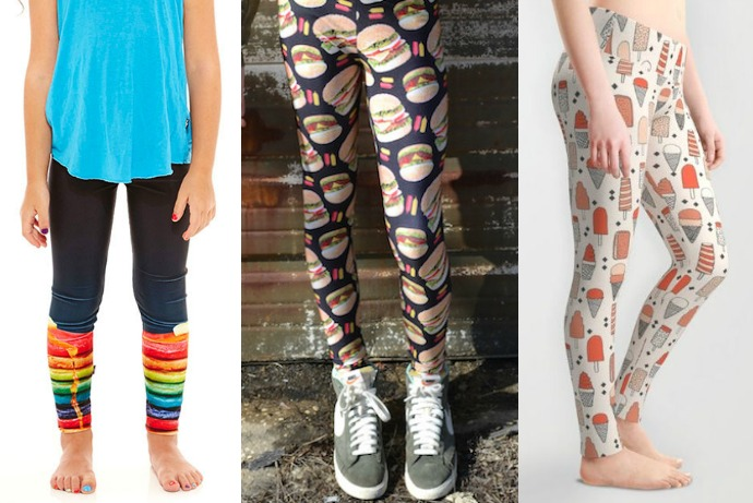 Hot trend alert: 12 adorable food printed leggings from candy canes to…kale.