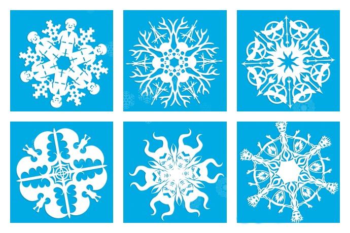 How do i make a snowflake stencil