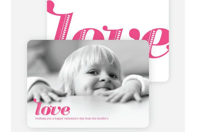 Photo Valentine's Cards: The brilliant solution to not having sent holiday cards
