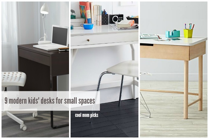 9 modern kids' desks for small spaces, that don't feel like kids' desks at all.