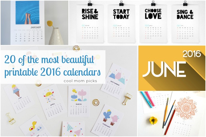 20 pretty, printable 2016 calendars to start your year out right. Lots of them free!