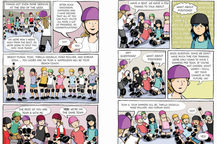 Friendships and middle school collide in Roller Girl by Victoria Jamieson