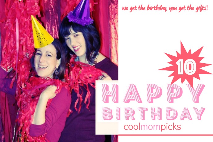 Cool Mom Picks turns 10! With 10 amazing giveaways to celebrate.