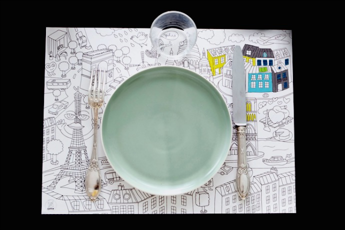 Color-your-own placemats turn any table into the coolest restaurant ever