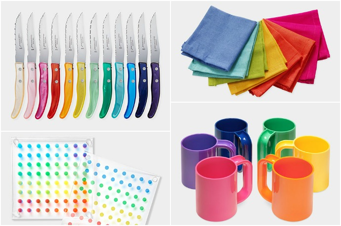 Rainbow housewares to brighten up winter. Or any season.