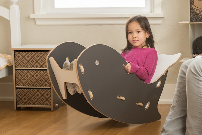A whale reading chair that really rocks