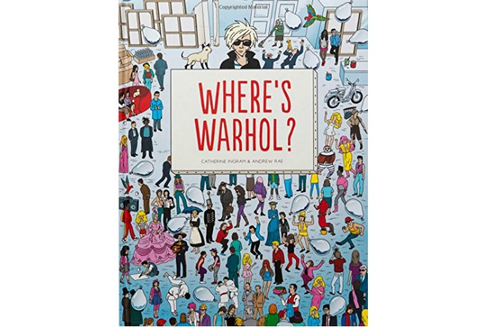 Where's Warhol? Not hiding in a red and white striped shirt, that's for sure.