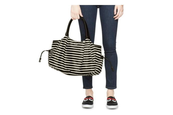 Trend alert: diaper bags are going chic with black and white this spring