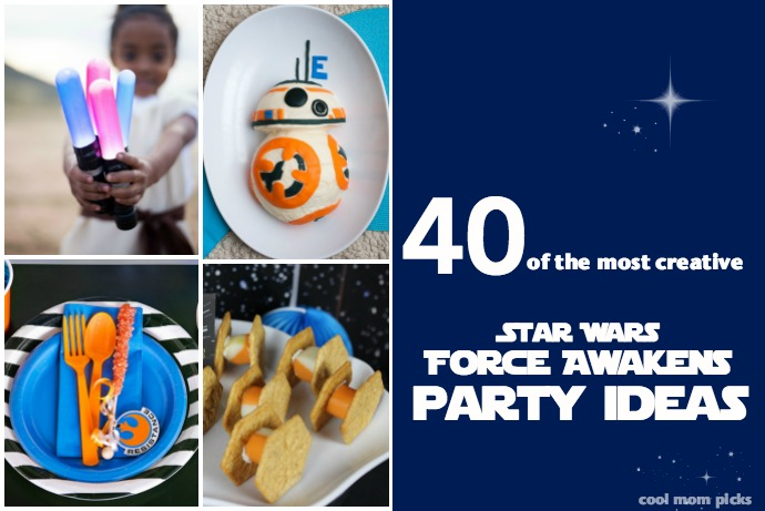 More than 40 cool Star Wars The Force Awakens birthday party ideas: invitations, decor, treats, and activities. Now THAT'S how the force works!