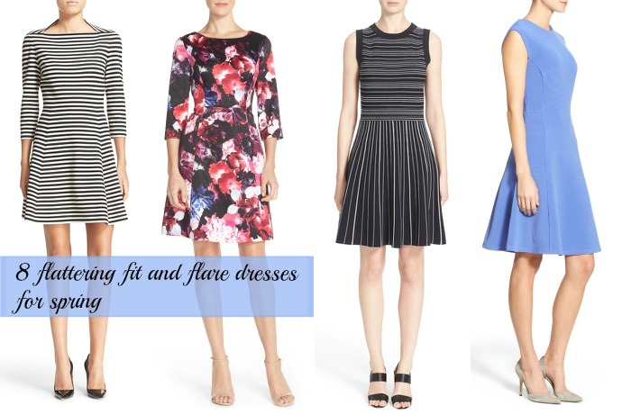 8 flattering fit and flare dresses that curvy women can wear this spring.