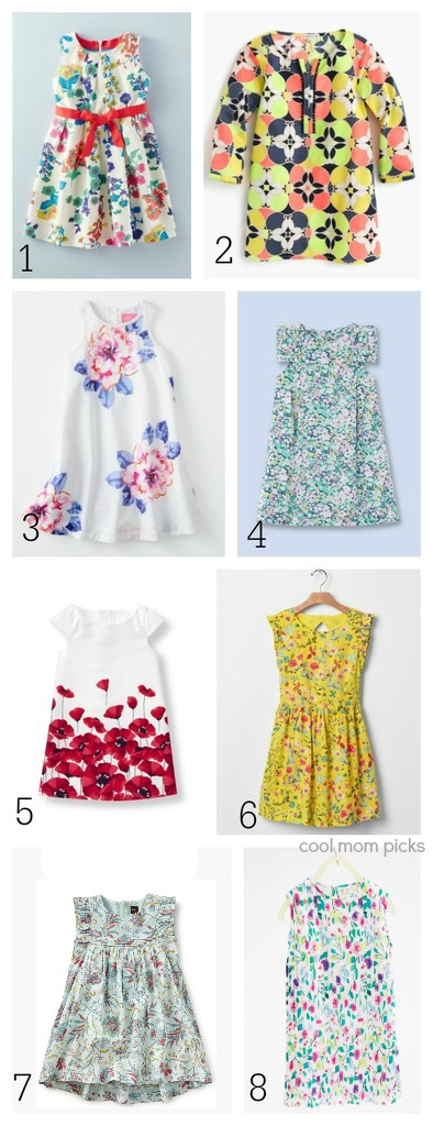 Modern floral easter dresses for girls: 8 options we love