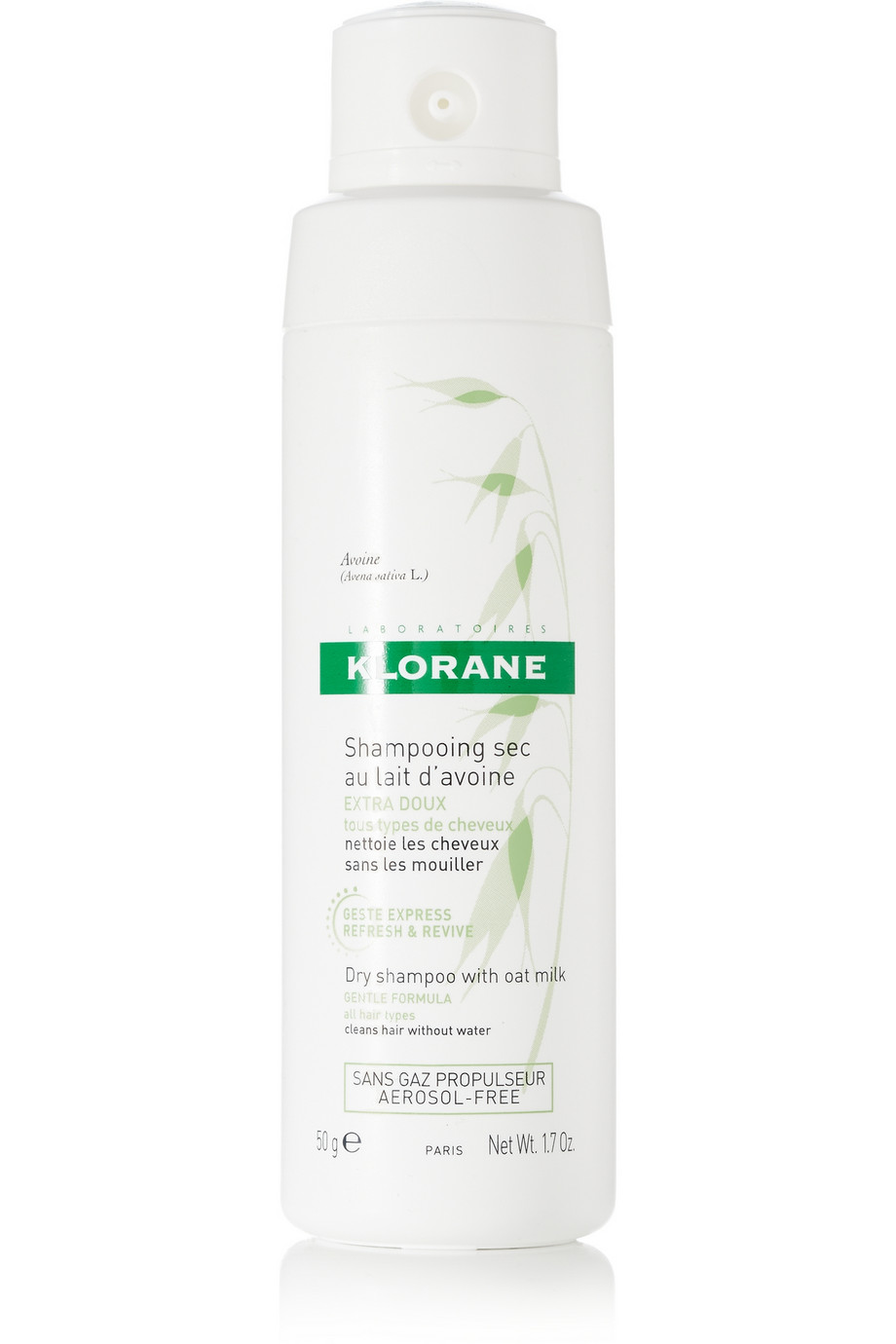 Our vote for the very best dry shampoo: Klorane dry shampoo with oat milk