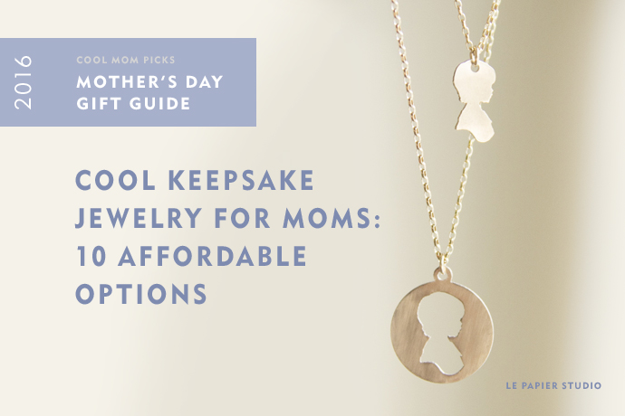 2016 Mothers Day Gift Guide | Affordable personalized keepsake jewelry for moms and grandmas