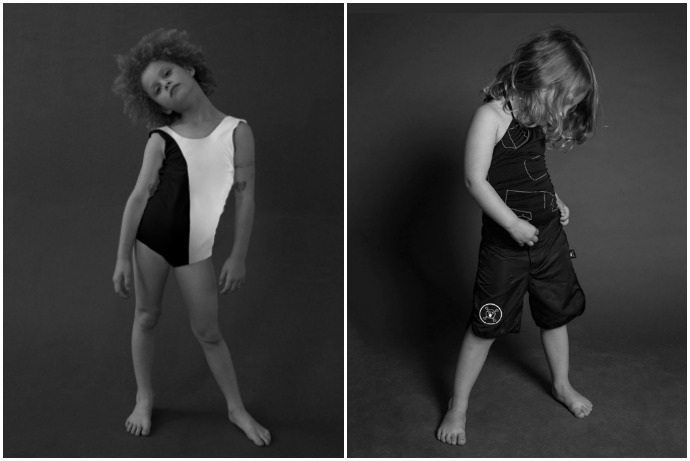 What's black and white and cool all over? Hip new kids swimwear from Nununu