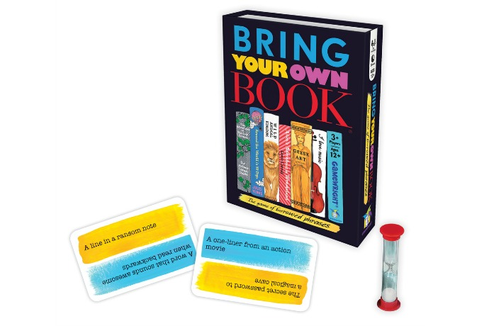 The clever Bring Your Own Book game is our new favorite for family game night.