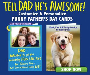 Customizable and personalized funny Father's Day cards at Cardfool