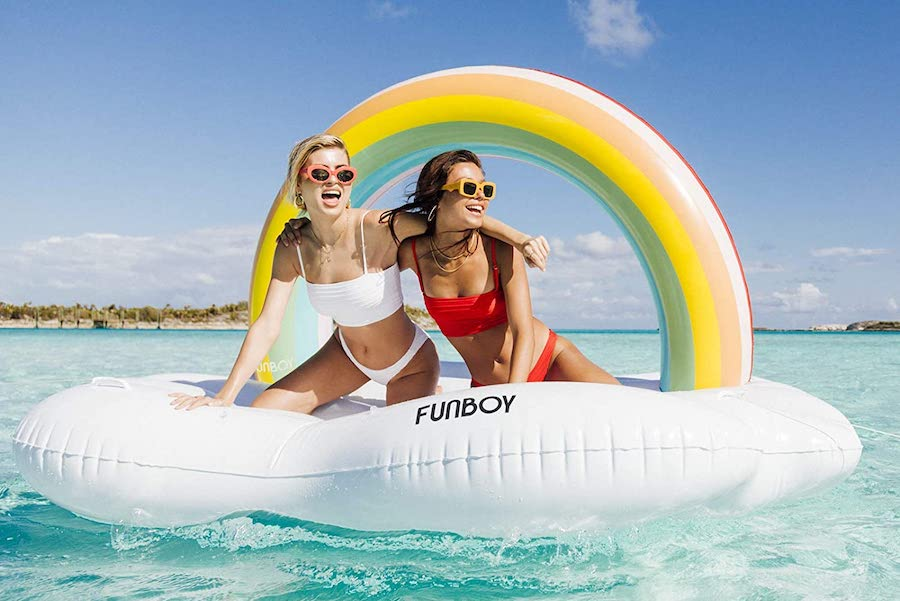 The coolest pool floats, from yachts and butterflies, to rainbow clouds for two (for all that safe social un-distancing we'll be doing!)