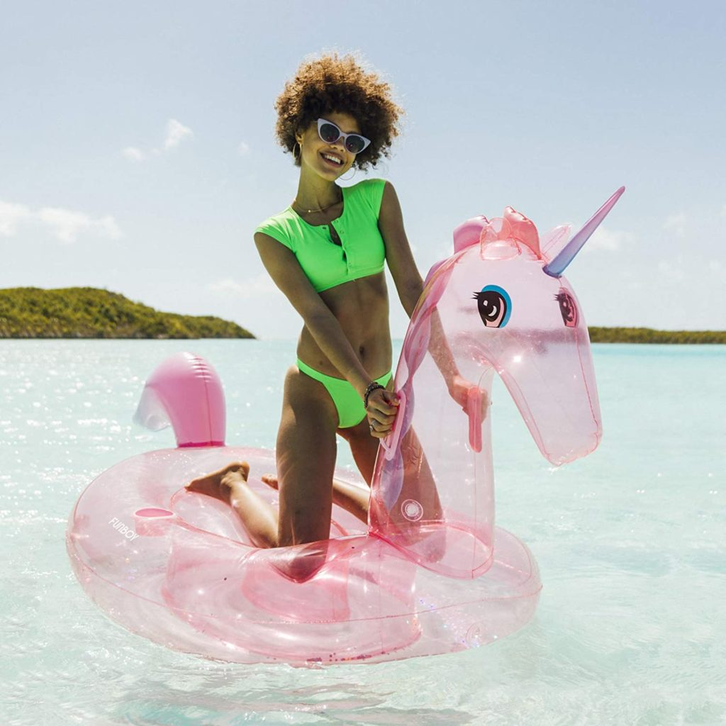 """The new glitter unicorn """"luxury float"""" from FUNBOY"""