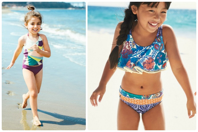 c98d653767d The best modest two-piece swimsuits for sporty, modern, or girly girls.  Because, well, they're still kids.