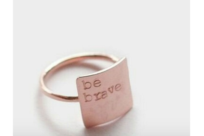 A cool custom ring we love, for a cause we love too.