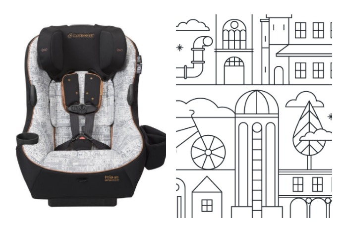 Swanky baby gear that looks like adult coloring books? Color us excited.
