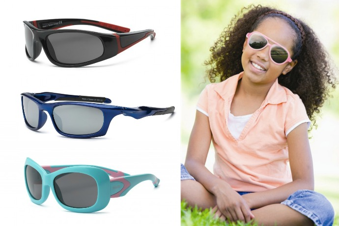 Real Kids Sunglasses: Blending style with UVA/UVB protection