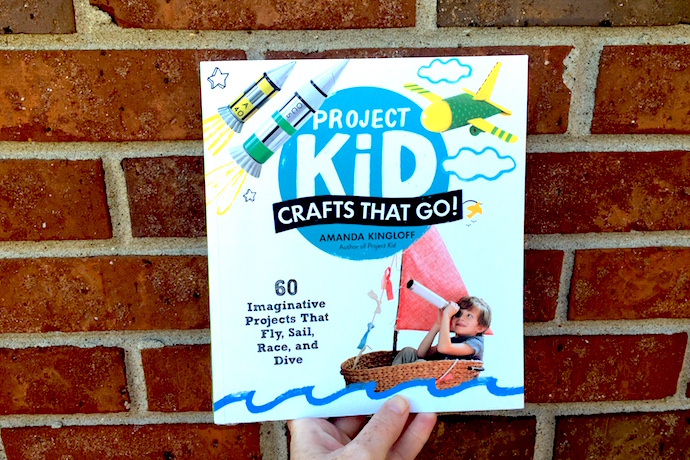 Got a kid who loves cars, planes, boats and art? They need the new book Project Kid: Crafts that Go.