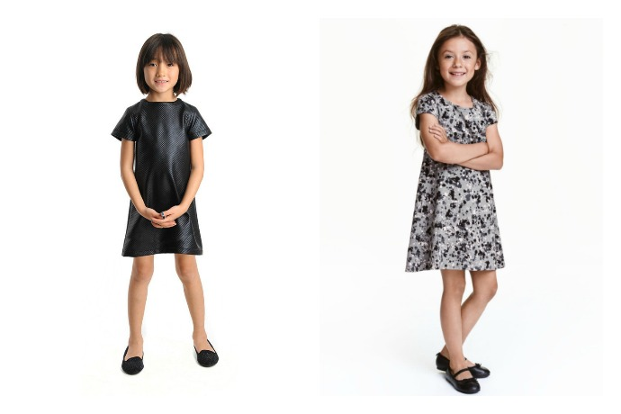9 black-and-white fall dresses for girls, from twirly to sporty to oh so mod