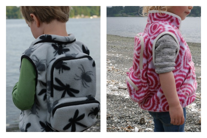 A clever backpack vest for kids, so you can ditch the role of family sherpa