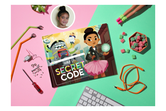 Secret Code: A customizable children's book to help you raise tech-savvy, confident girls.
