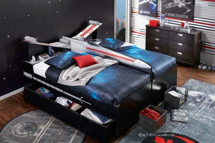 Your Padawan will dream of a galaxy far, far away in these rad Star Wars beds.
