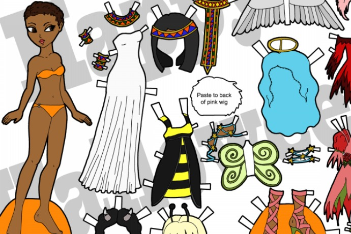 photograph regarding Paper Dolls Printable called The coolest absolutely free printable Halloween paper dolls in the direction of preserve the