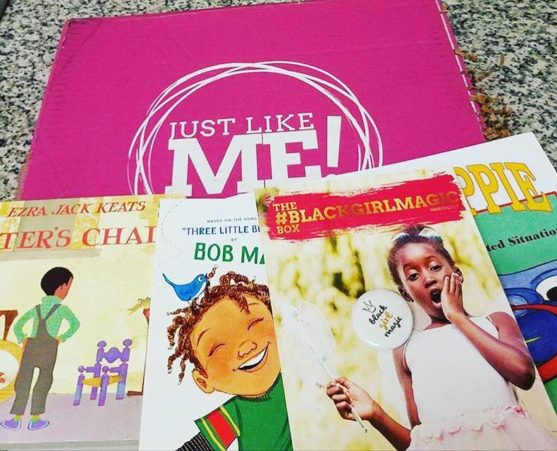 Just Like Me! book box is a well-curated monthly subscription book box filled with African American children's books.