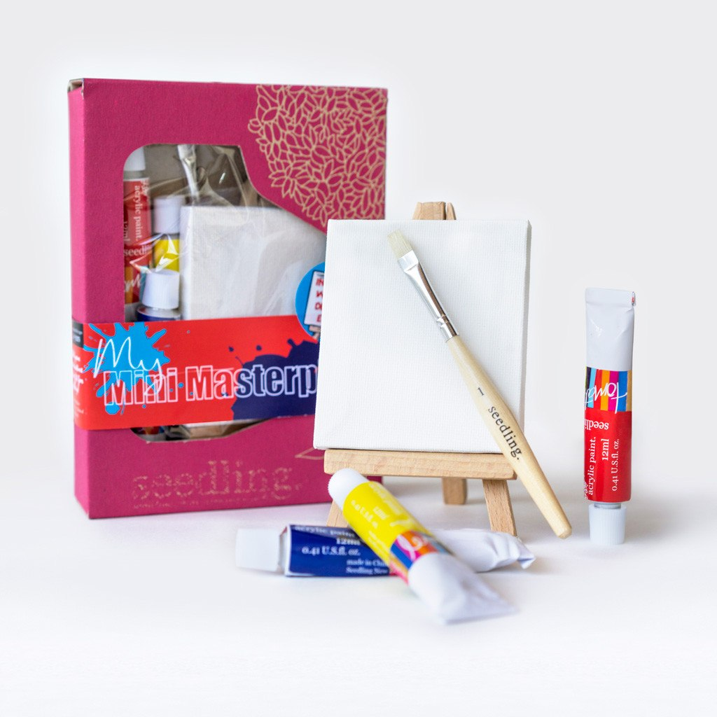 Paint your own mini masterpiece kit from Seedling: Great preschool birthday gift ideas under $15