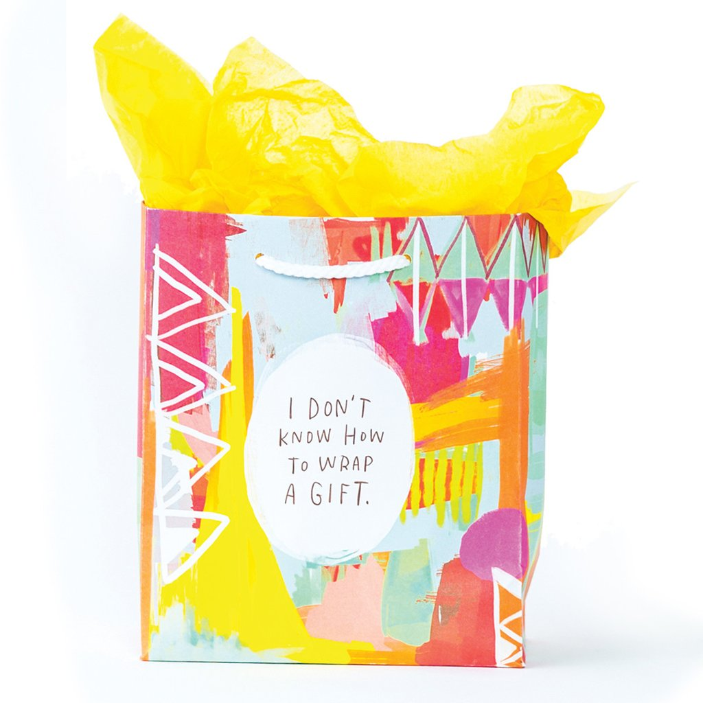 Cool gift wrap ideas and EASY: Emily McDowell's cheeky gift bags