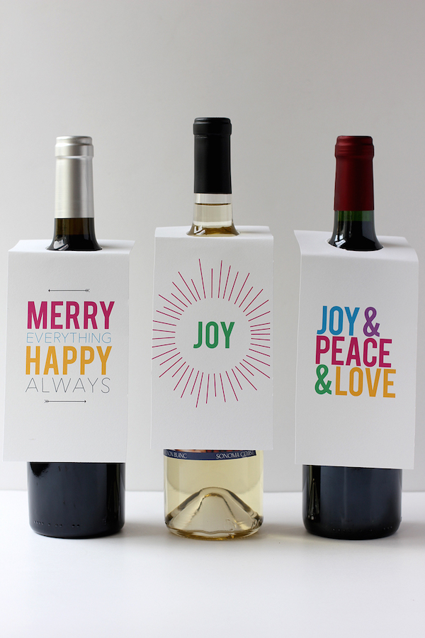 Last-minute holiday gift ideas: Printable Wine Tags by Alice and Lois