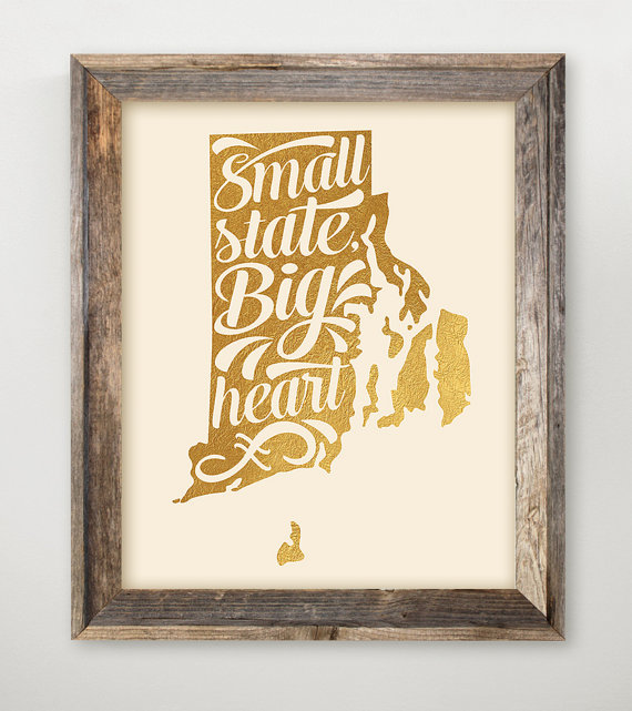 Last-minute holiday gift ideas: Printable State Art by Ink Lane Designs