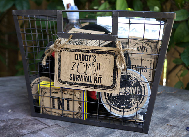 Last minute holiday gift ideas: Zombie Survival Kit by Sandy Toes & Popsicles