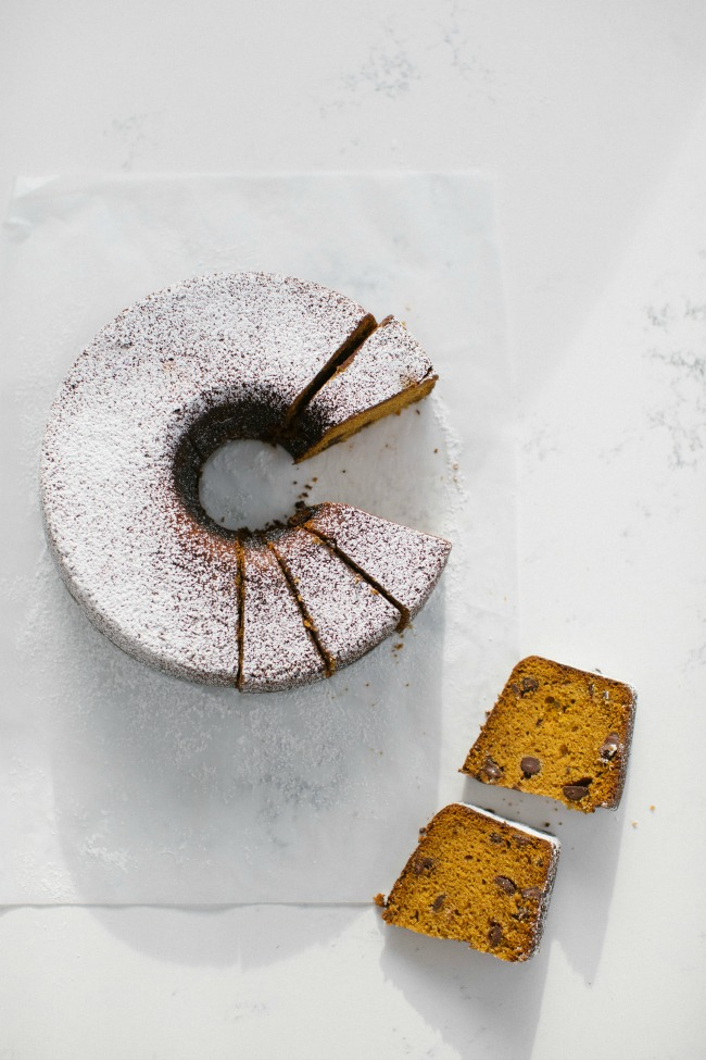 Last-minute holiday gift ideas: Pumpkin Poundcake with Chocolate by Sara Kiefer for The Vanilla Bean Blog