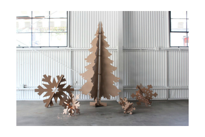 Modern Christmas tree alternatives for small spaces. And, no pesky needles.