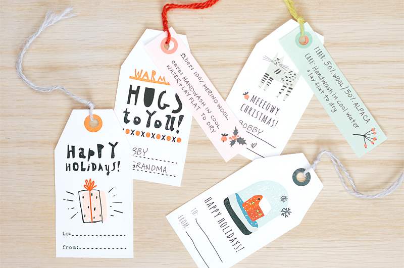 Printable gift tags and care labels from Sheep & Stitch are classic.