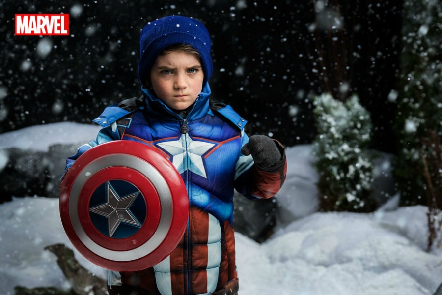 Fight evil (and frostbite) with these cool superhero snowsuits.