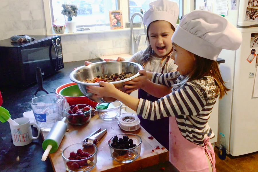 Berries Everywhere: Would you ever let your kids do this to your kitchen?